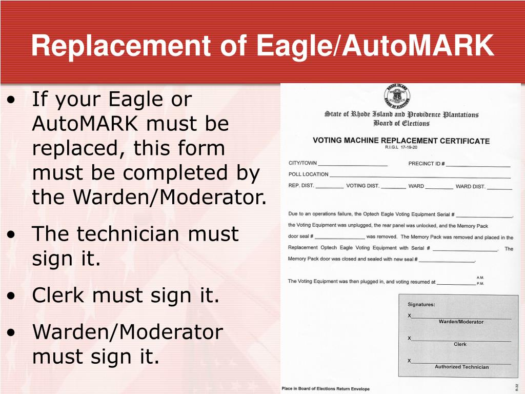 Replacement of Eagle/AutoMARK