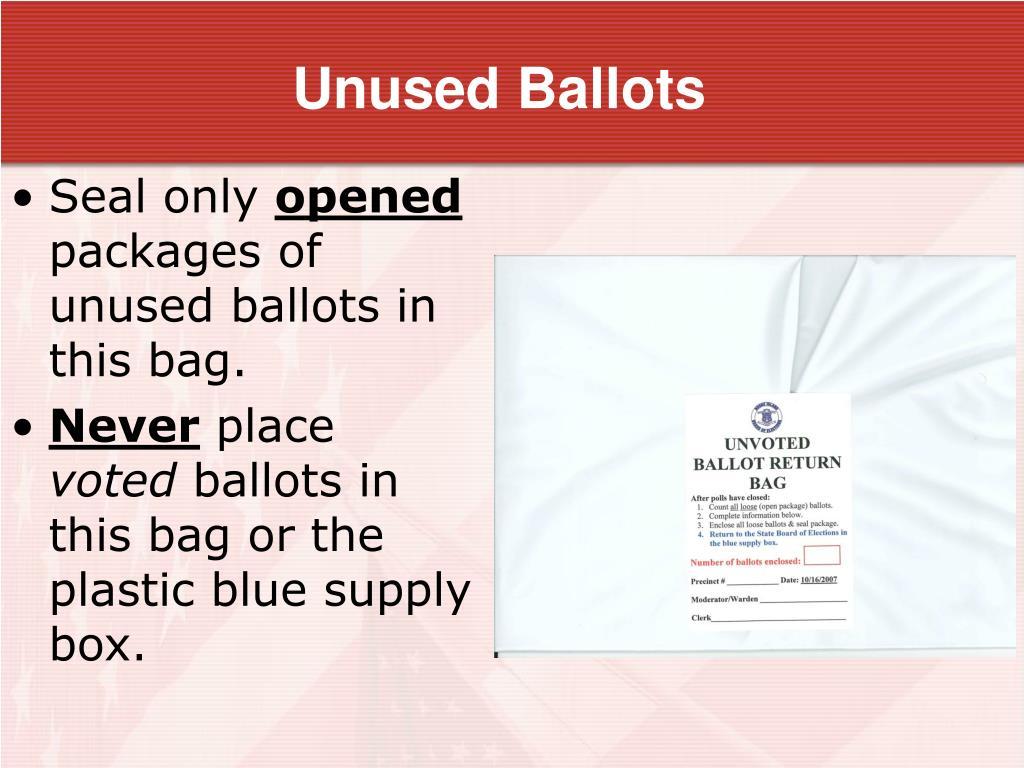 Unused Ballots