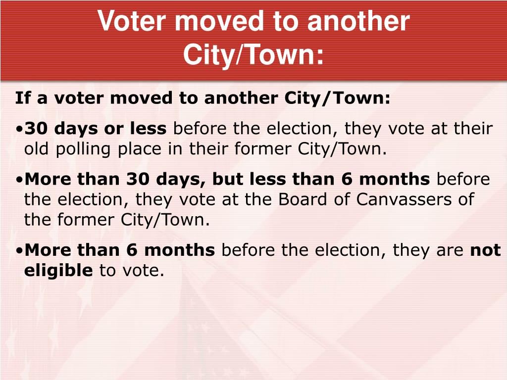 Voter moved to another