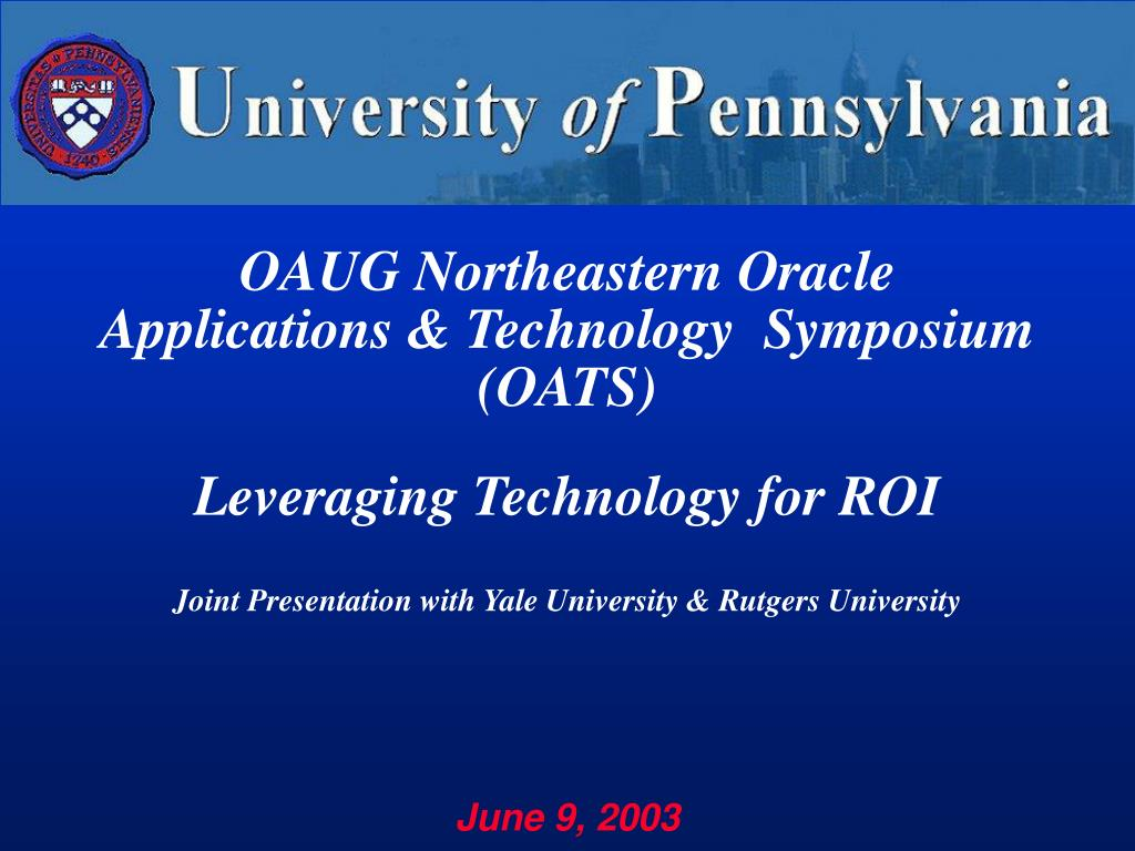 OAUG Northeastern Oracle Applications & Technology  Symposium (OATS)