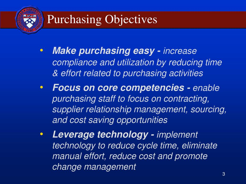Purchasing Objectives