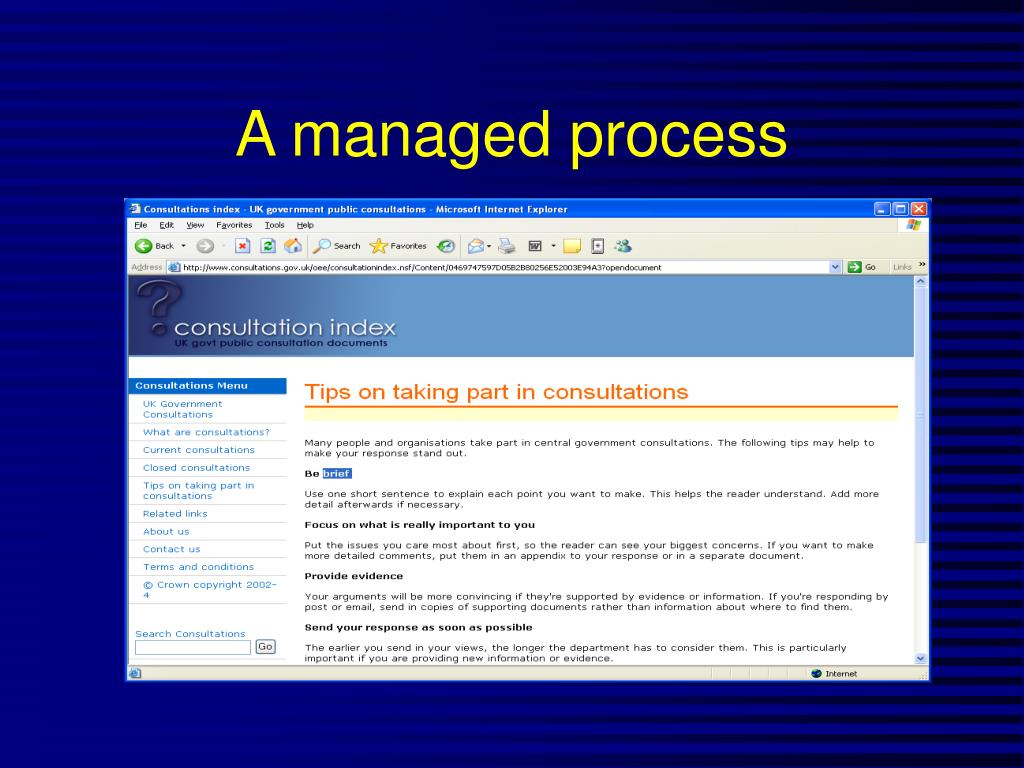 A managed process