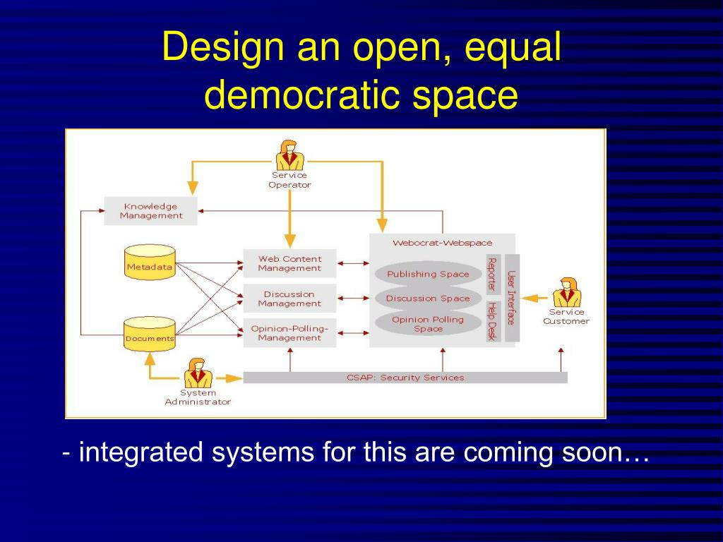 Design an open, equal democratic space