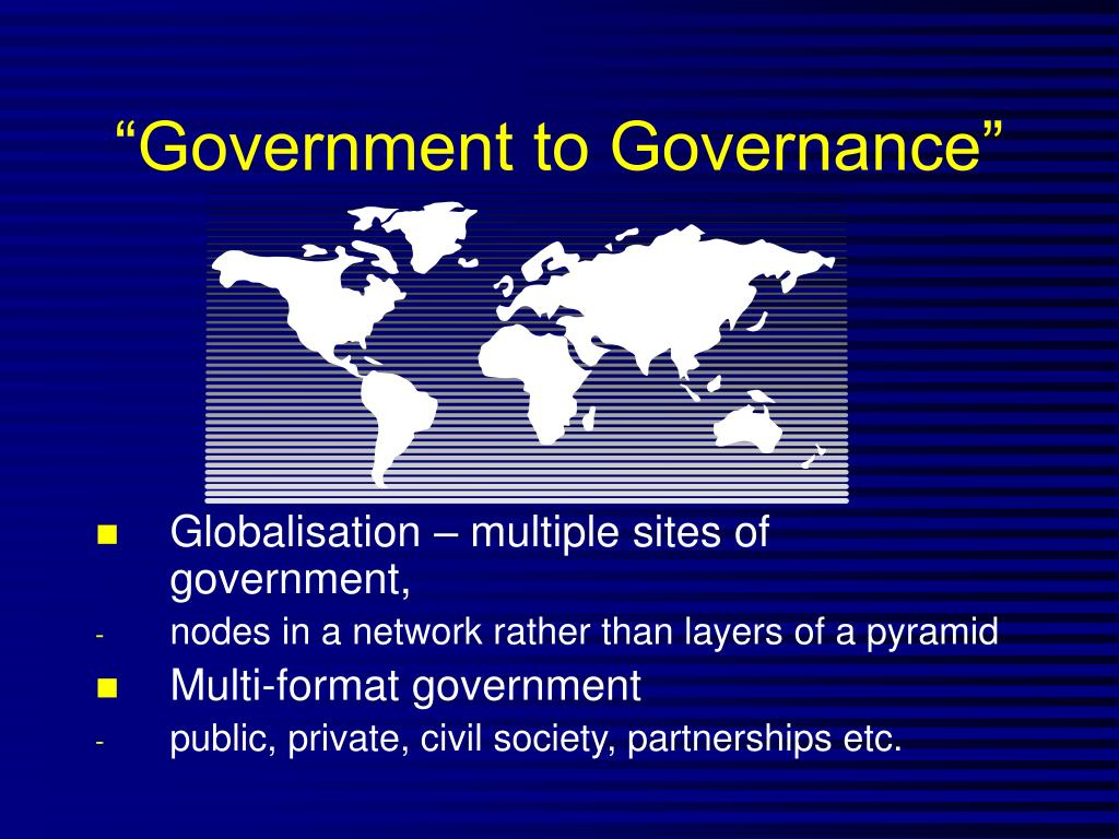 """Government to Governance"""