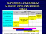 technologies of democracy modelling democratic decision making