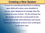 creating a new system