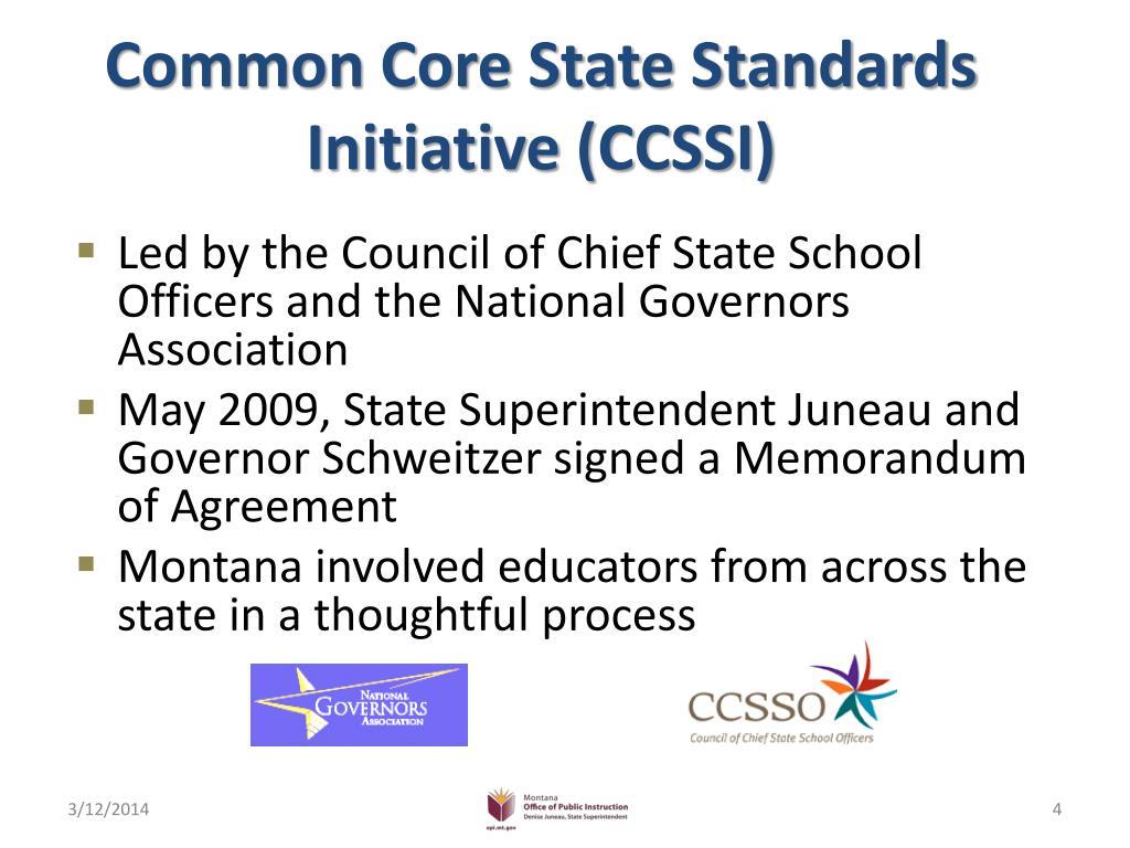 Common Core State Standards Initiative (CCSSI)