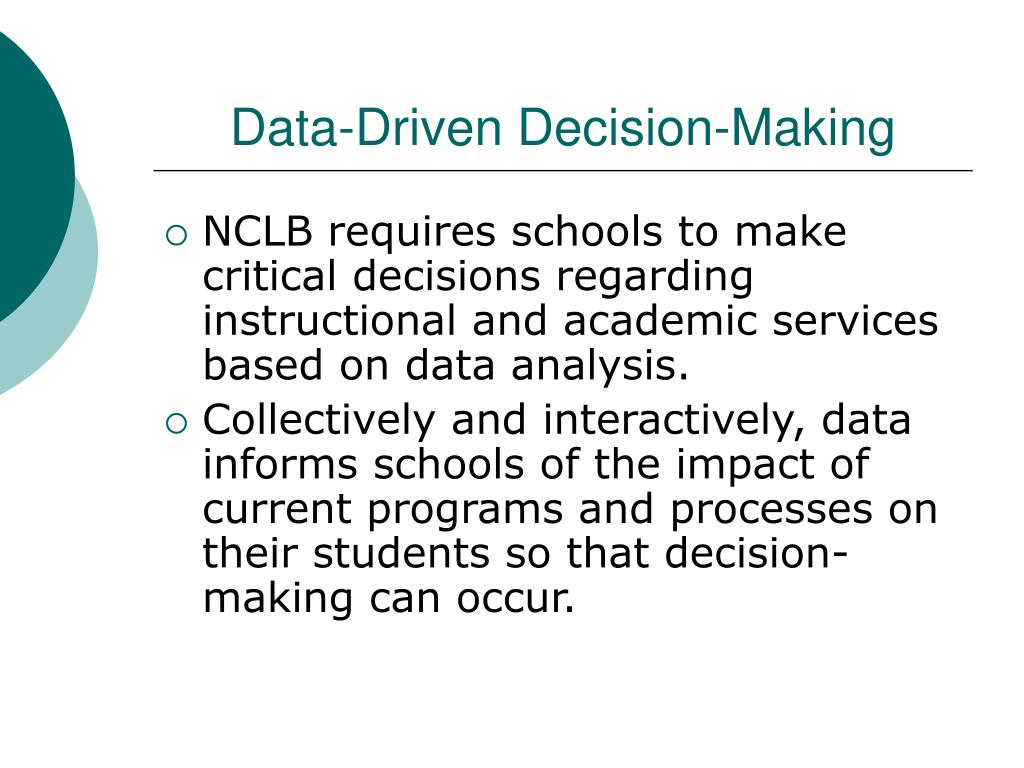 Data-Driven Decision-Making