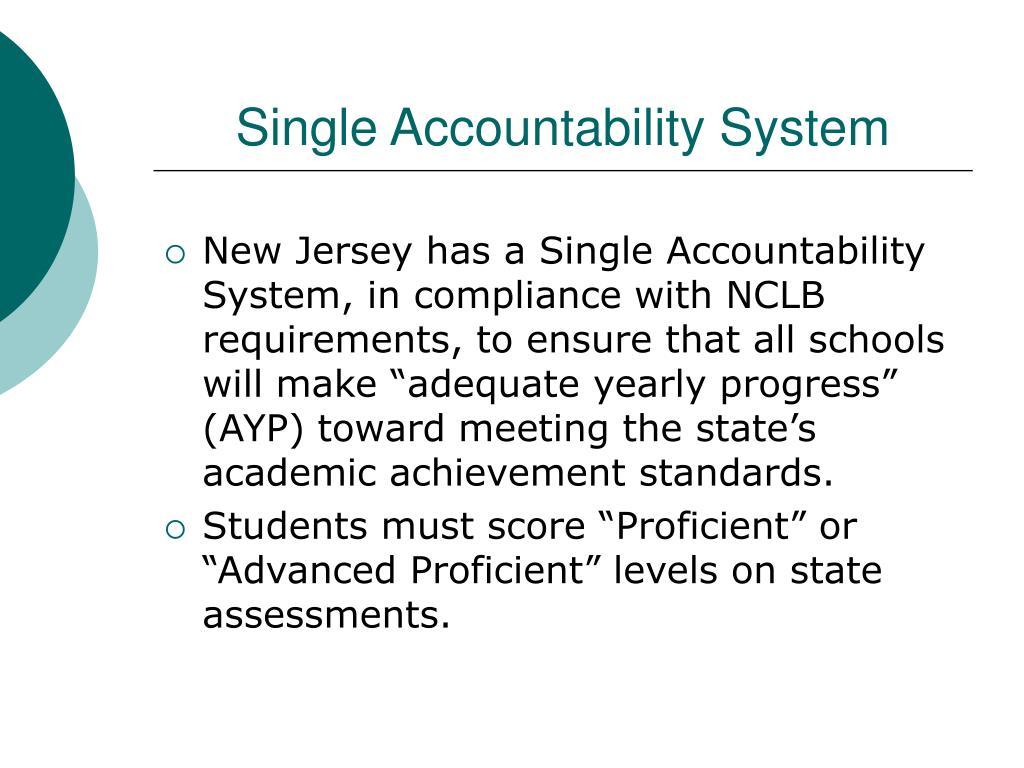 Single Accountability System