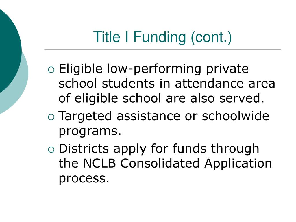 Title I Funding (cont.)