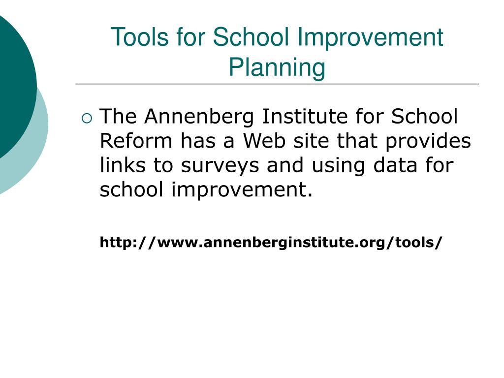 Tools for School Improvement