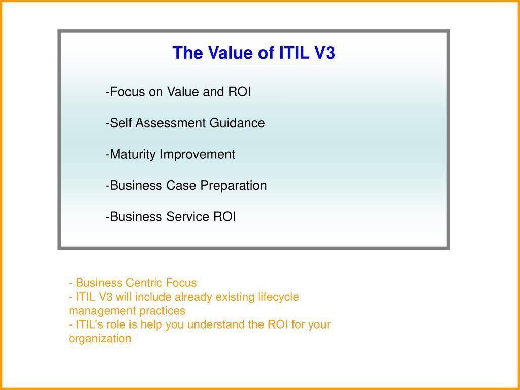 The Value of ITIL V3