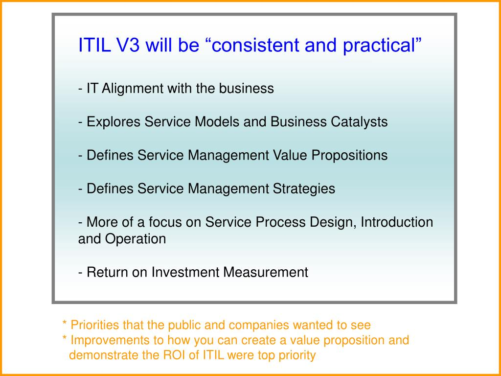 """ITIL V3 will be """"consistent and practical"""""""