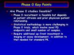 phase 0 key points