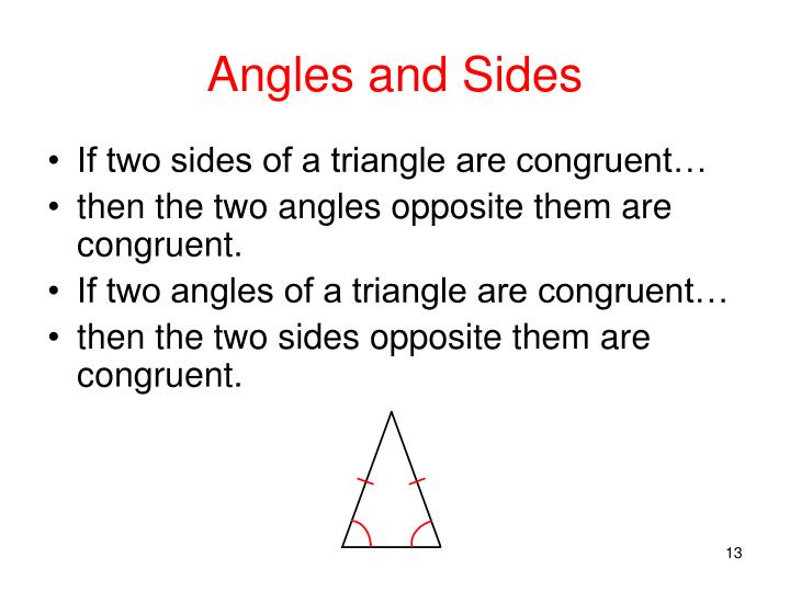 Angles and Sides