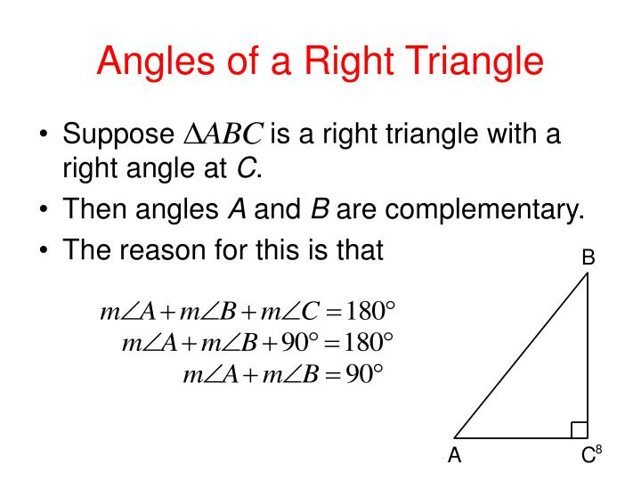 Angles of a Right Triangle
