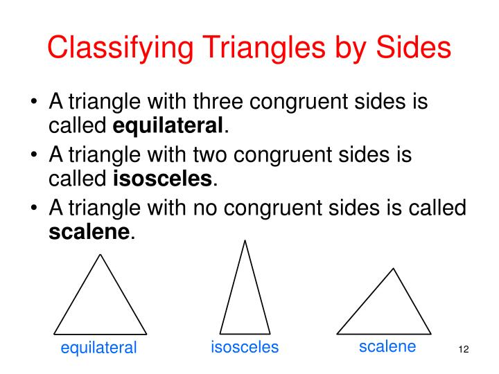 Classifying Triangles by Sides