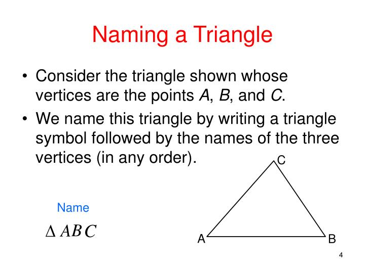 Naming a Triangle