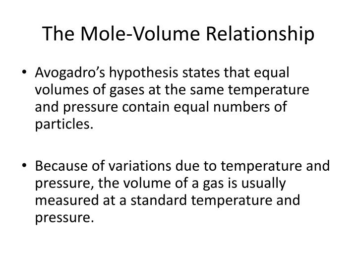 mole to relationship ppt
