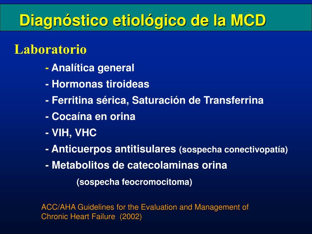 Diagnóstico etiológico de la MCD