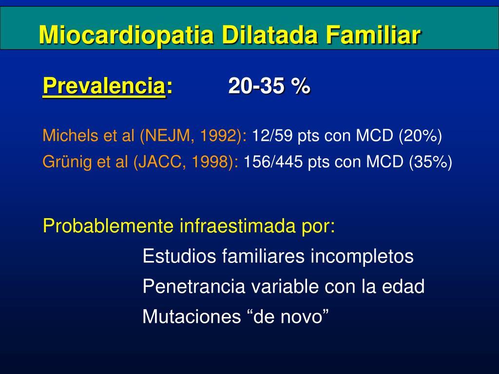 Miocardiopatia Dilatada Familiar