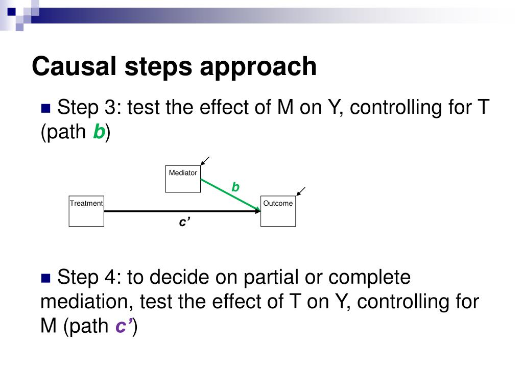 Causal steps approach