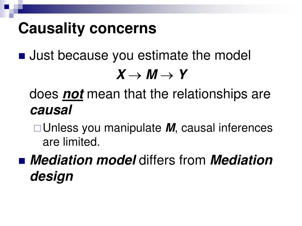 Causality concerns