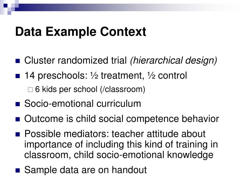 Data Example Context