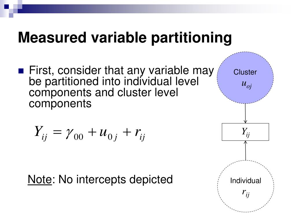 Measured variable partitioning