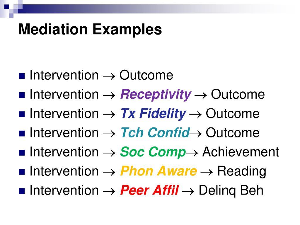 Mediation Examples