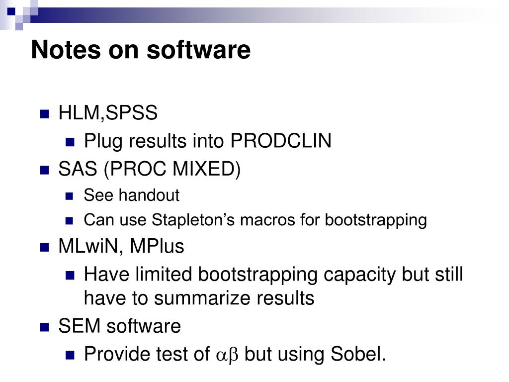 Notes on software