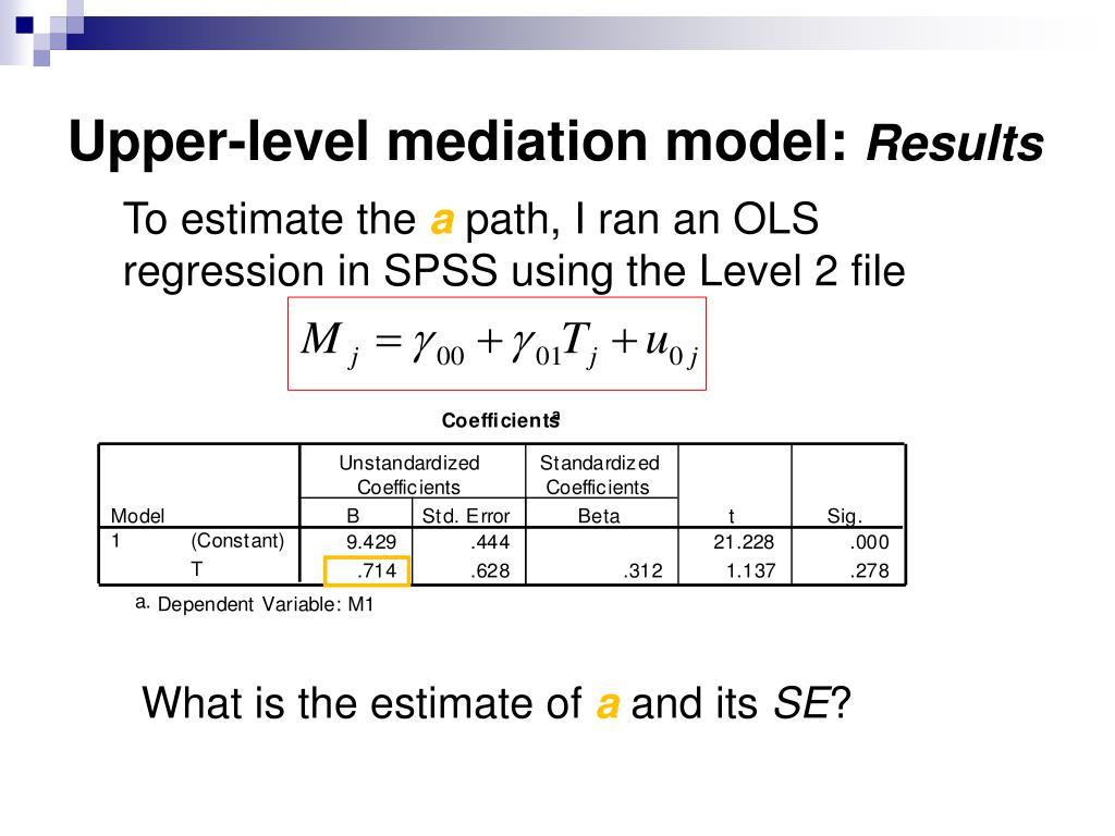 Upper-level mediation model: