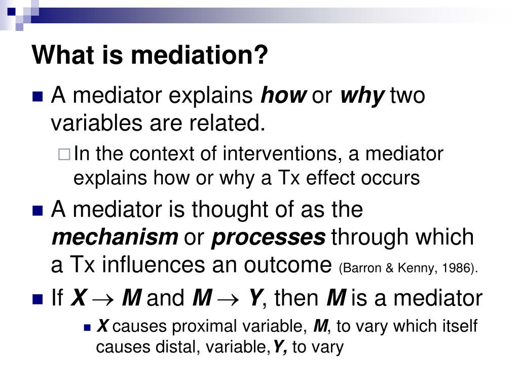 What is mediation?