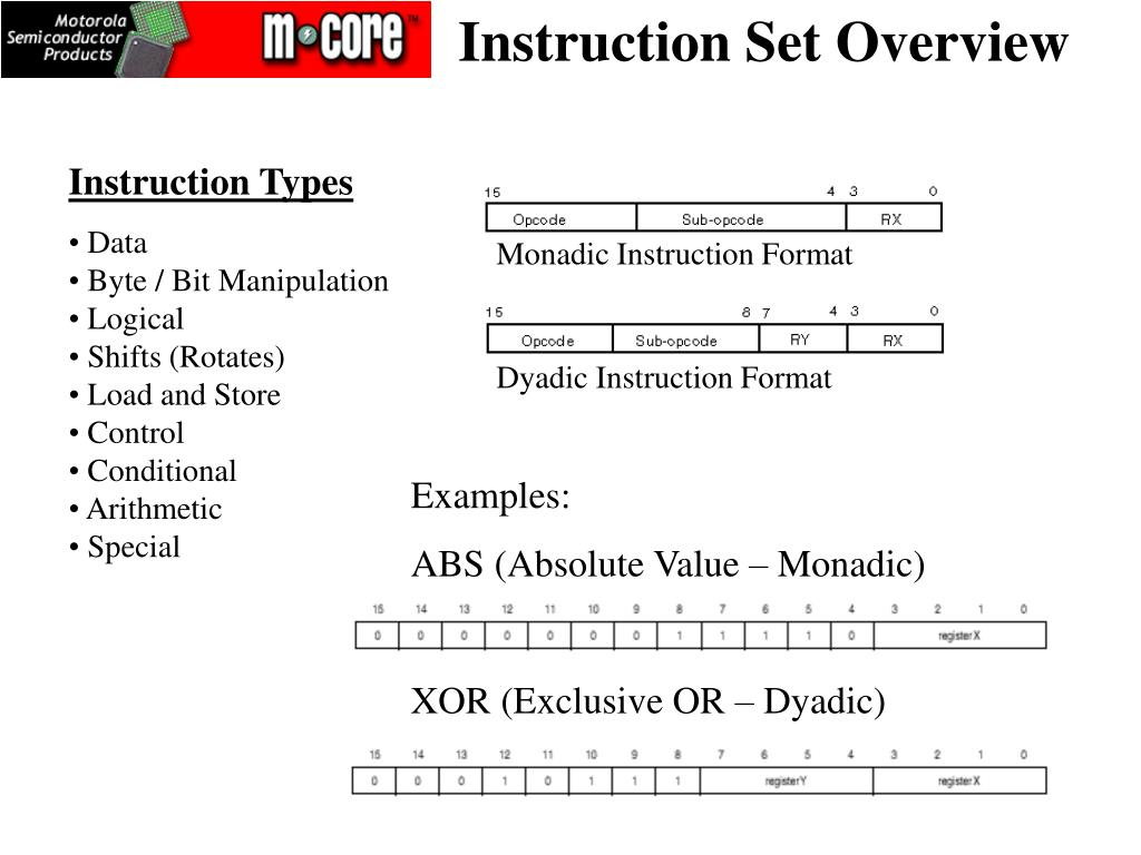 Instruction Set Overview