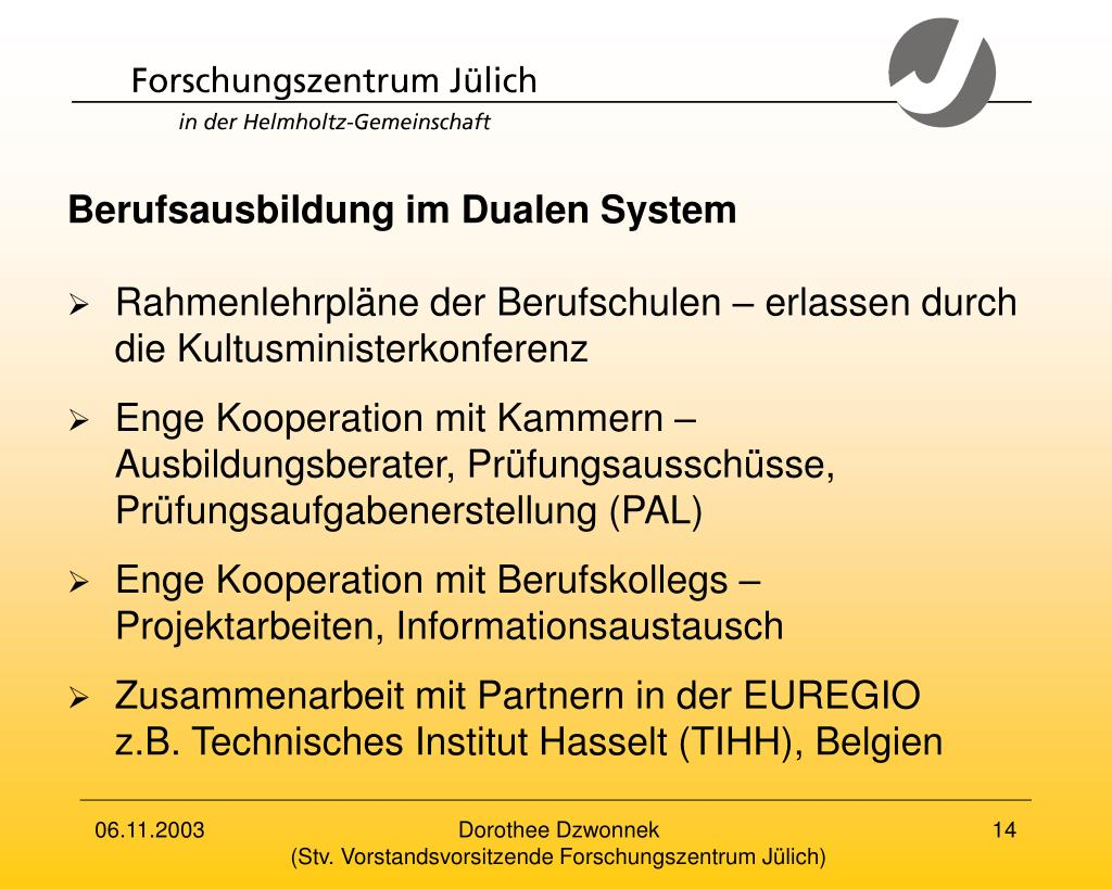 Berufsausbildung im Dualen System