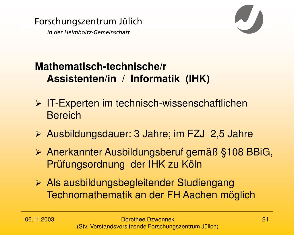 Mathematisch-technische/r