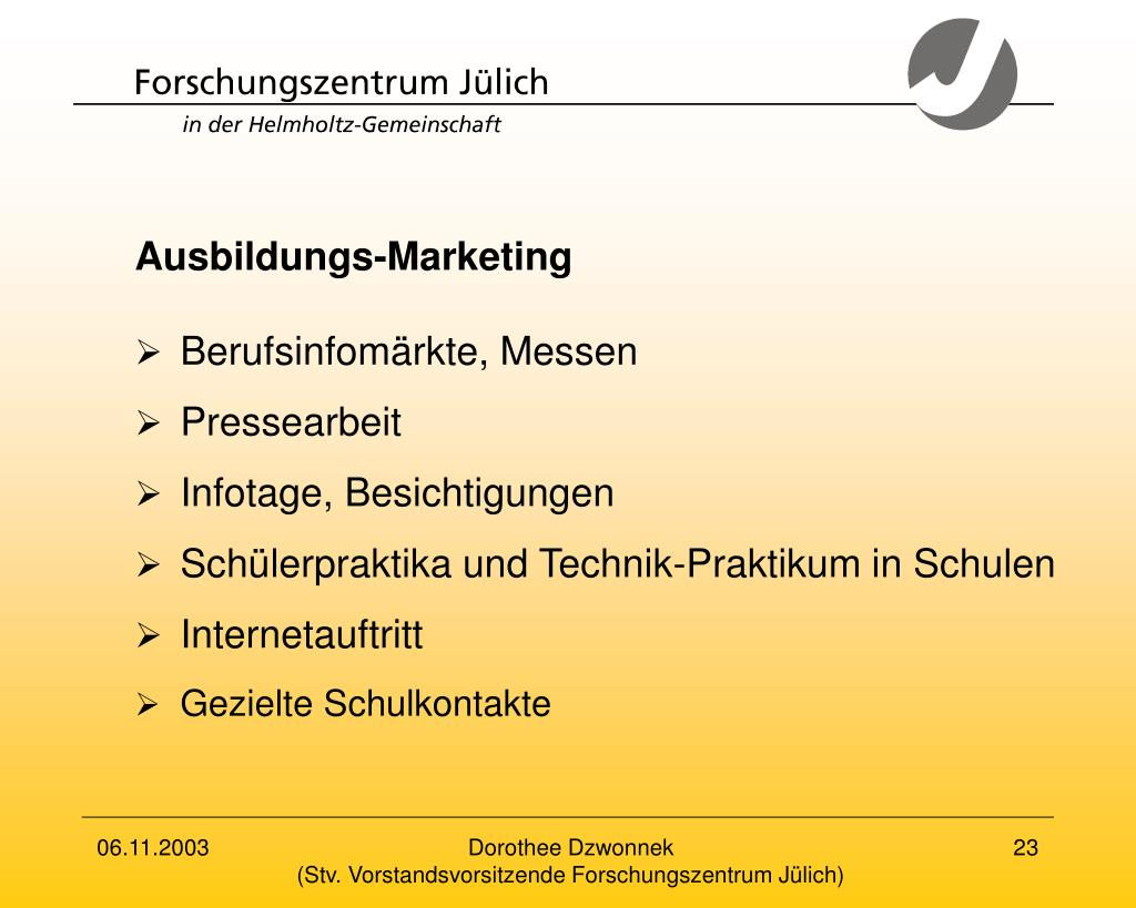 Ausbildungs-Marketing