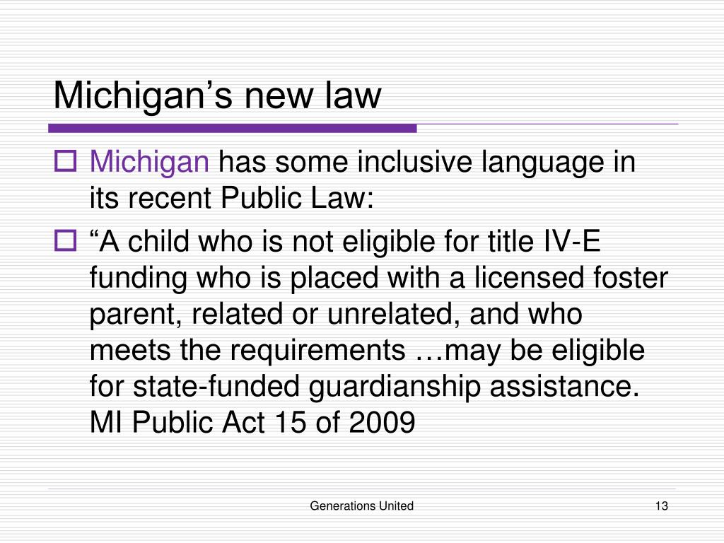 Michigan's new law