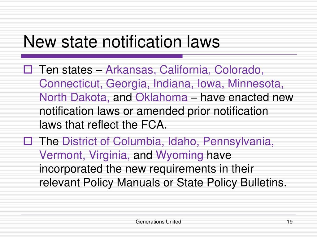 New state notification laws