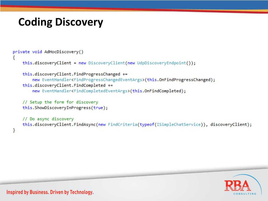 Coding Discovery