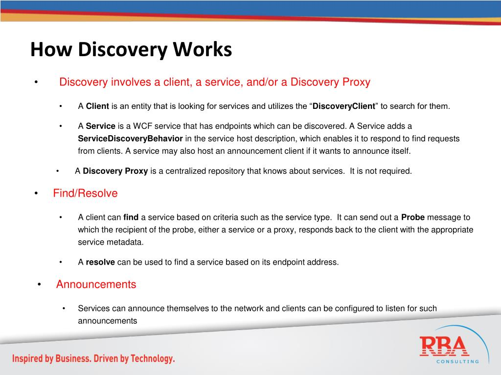 How Discovery Works