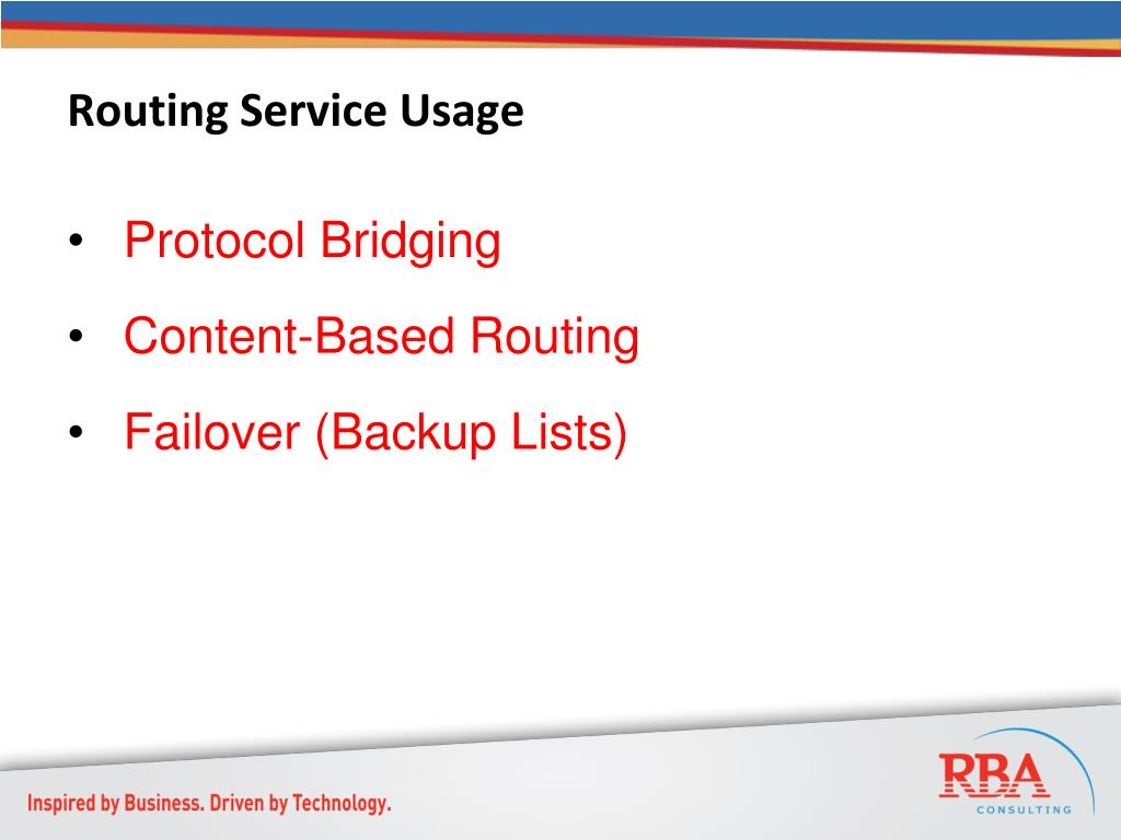 Routing Service Usage