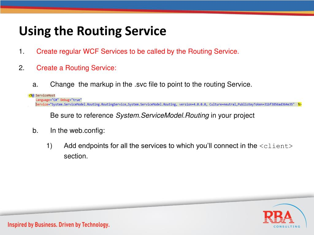 Using the Routing Service