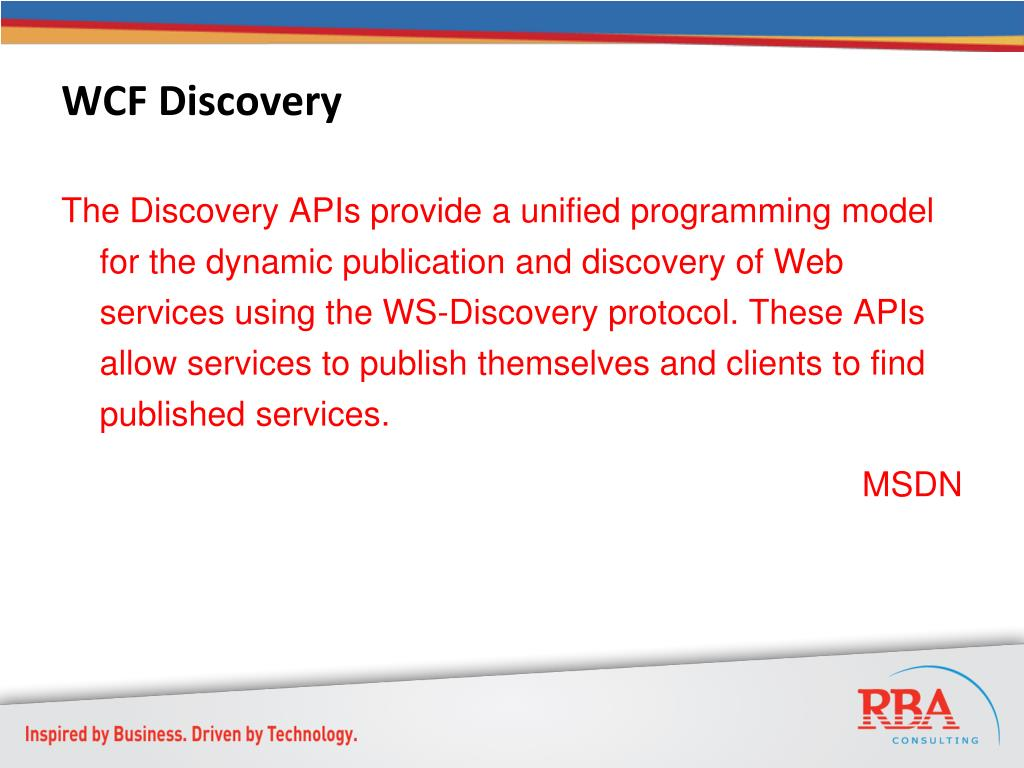 WCF Discovery