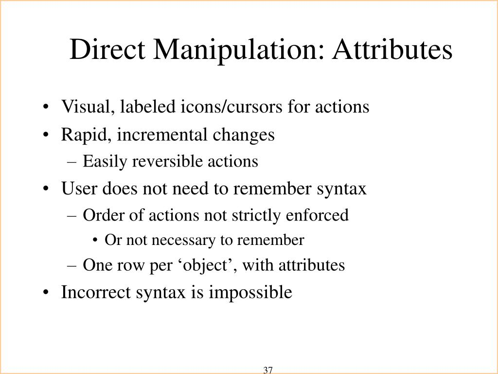 Direct Manipulation: Attributes