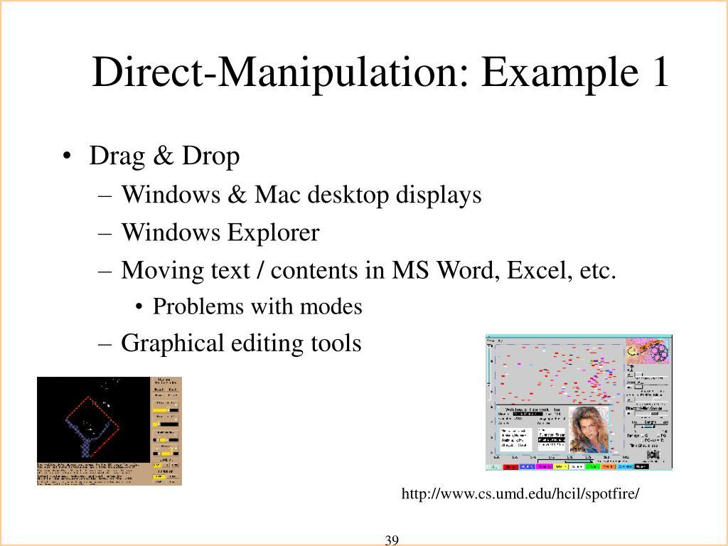 Direct-Manipulation: Example 1