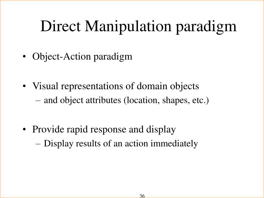 Direct Manipulation paradigm