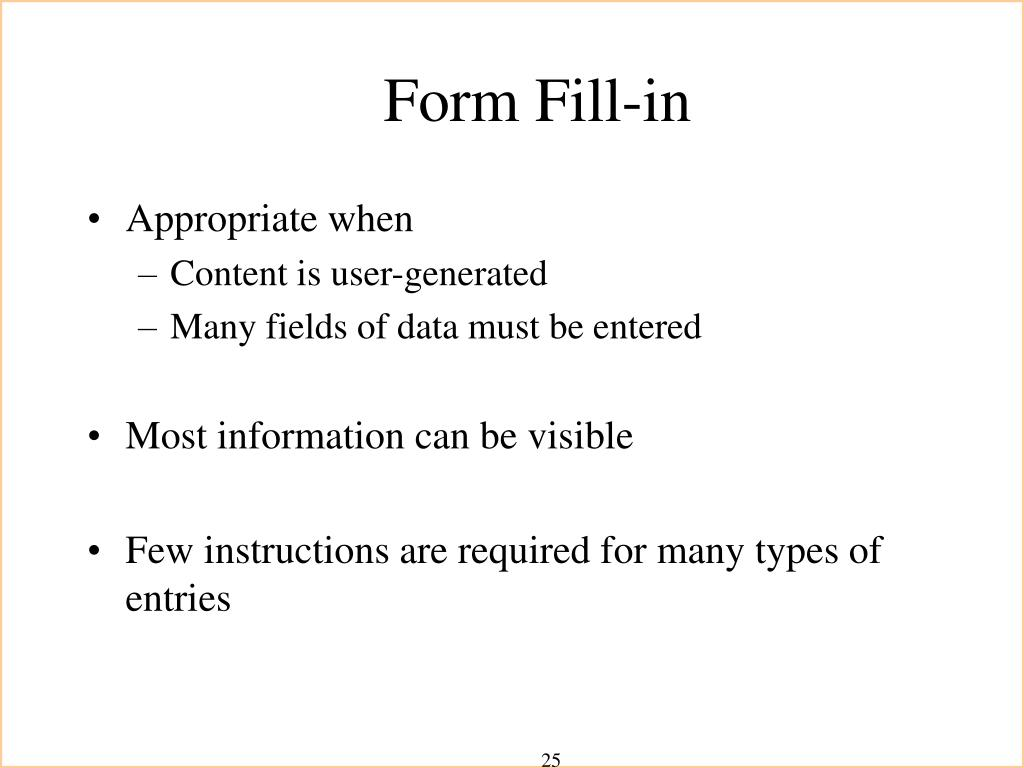 Form Fill-in