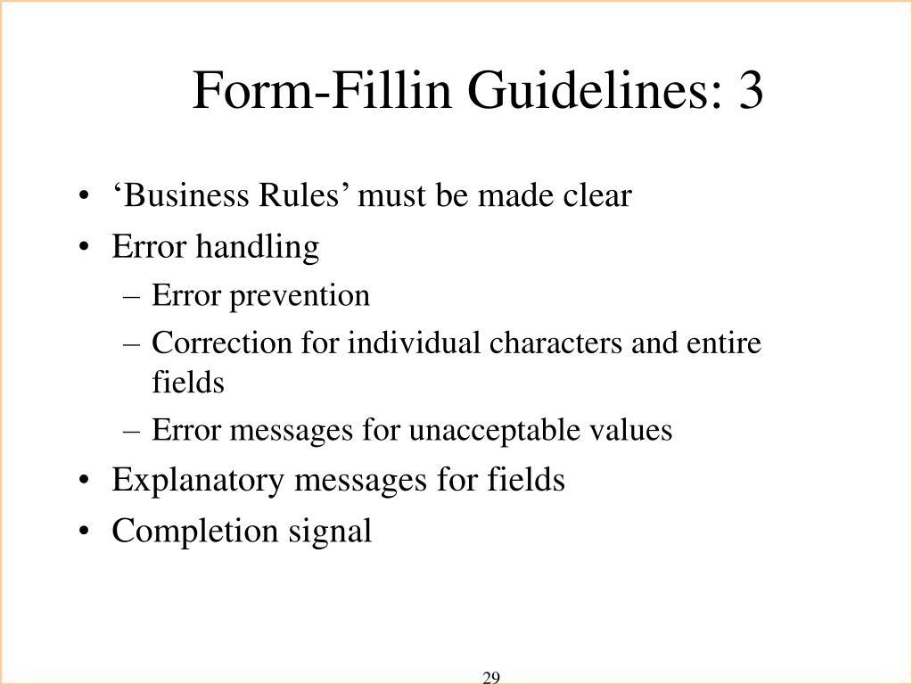 Form-Fillin Guidelines: 3