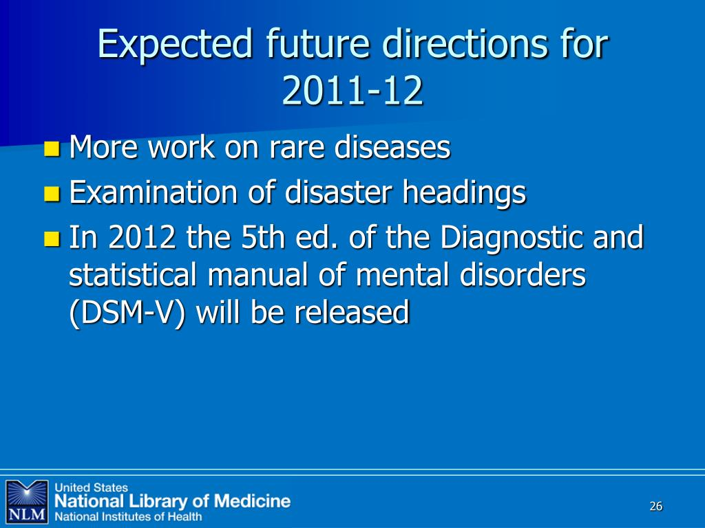 Expected future directions for 2011-12